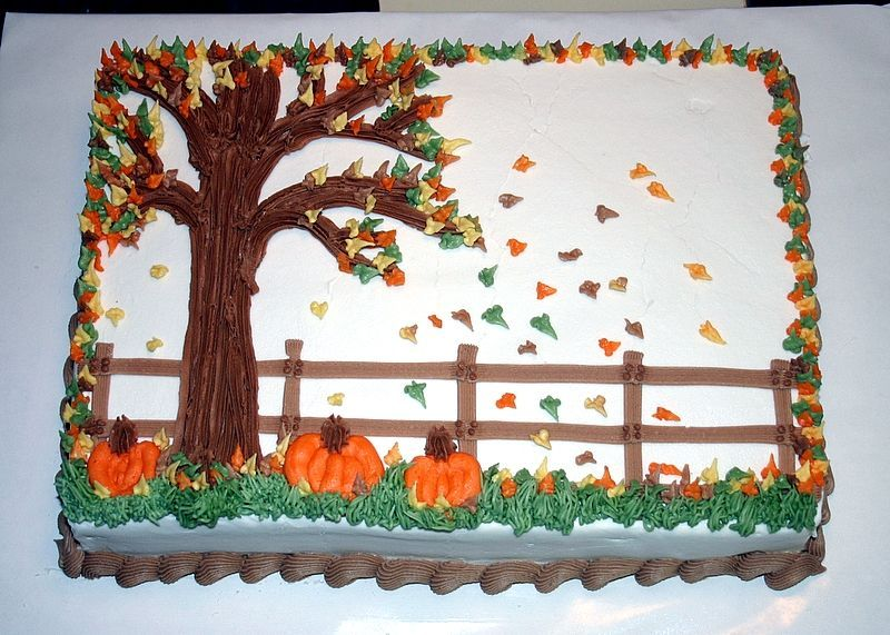 Brilliant Fall Theme Cake With Images Fall Theme Cakes Fall Birthday Funny Birthday Cards Online Aboleapandamsfinfo