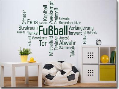 Wortwolke Fussball Fussball Kinderzimmer Dekoration