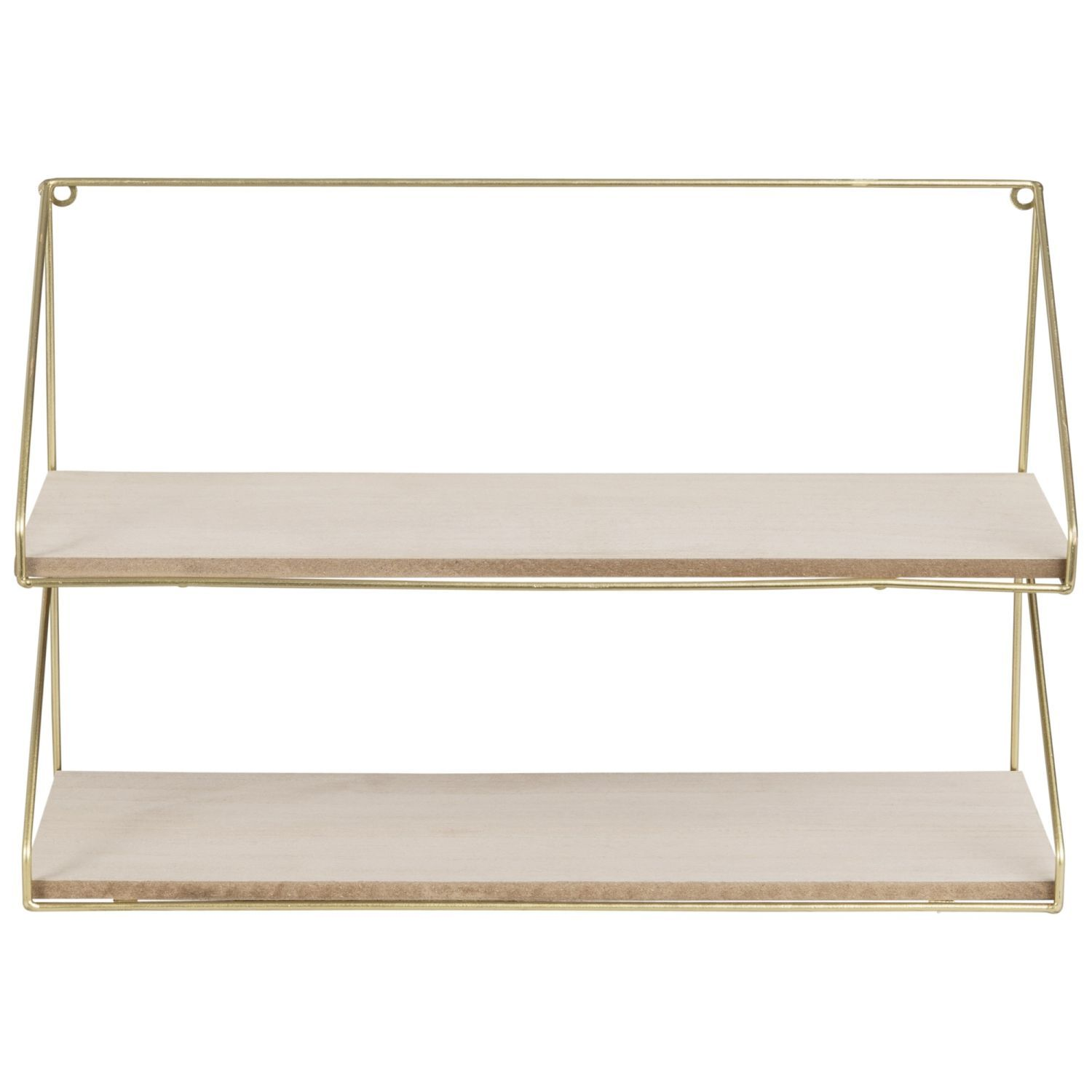 Wandregal aus goldfarbenem Metall Metal shelves, Metal