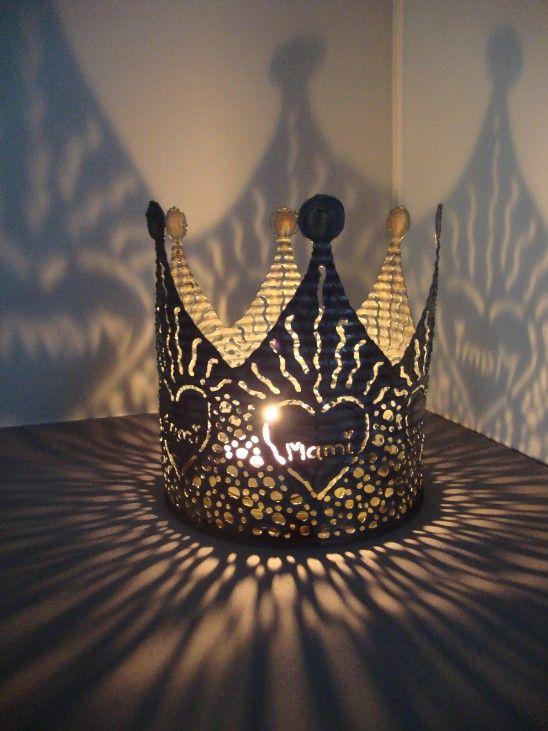 Bildergebnis f r kronen basteln aus blechdosen kreativ pinterest krone basteln basteln - Weihnachtsdekoration basteln mit kindern ...