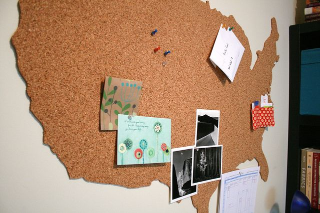 Cool map cork board for an office or playroom office cool map cork board for an office or playroom gumiabroncs Choice Image