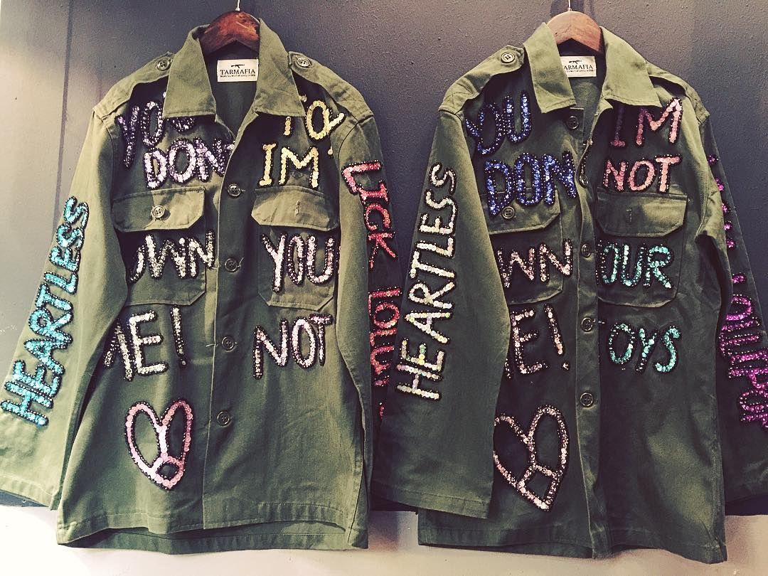 Mulpix Word Military Army Jacket Robe Sequins Handmade Embroidery Diy Vintage Style Jackets Diy Denim Jacket Military Jacket Women