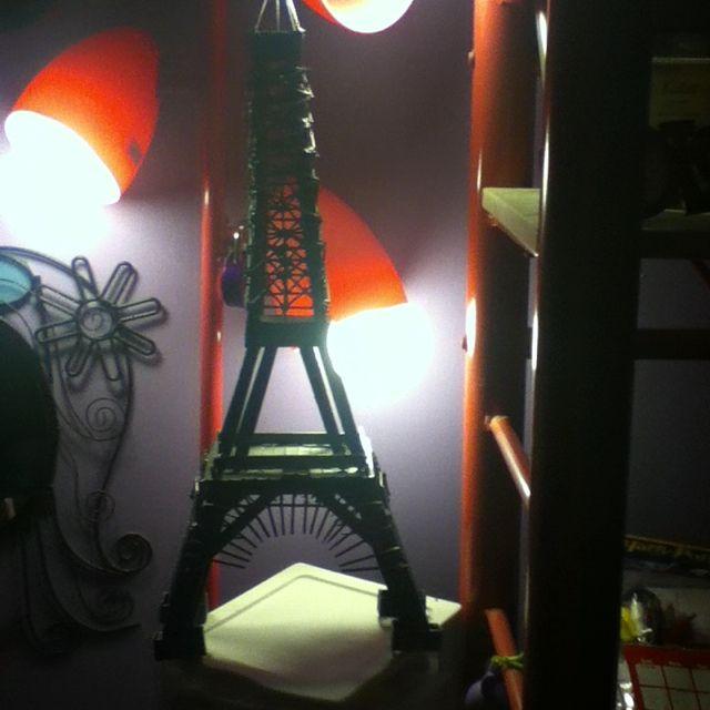 Popsicle stick Eiffel tower