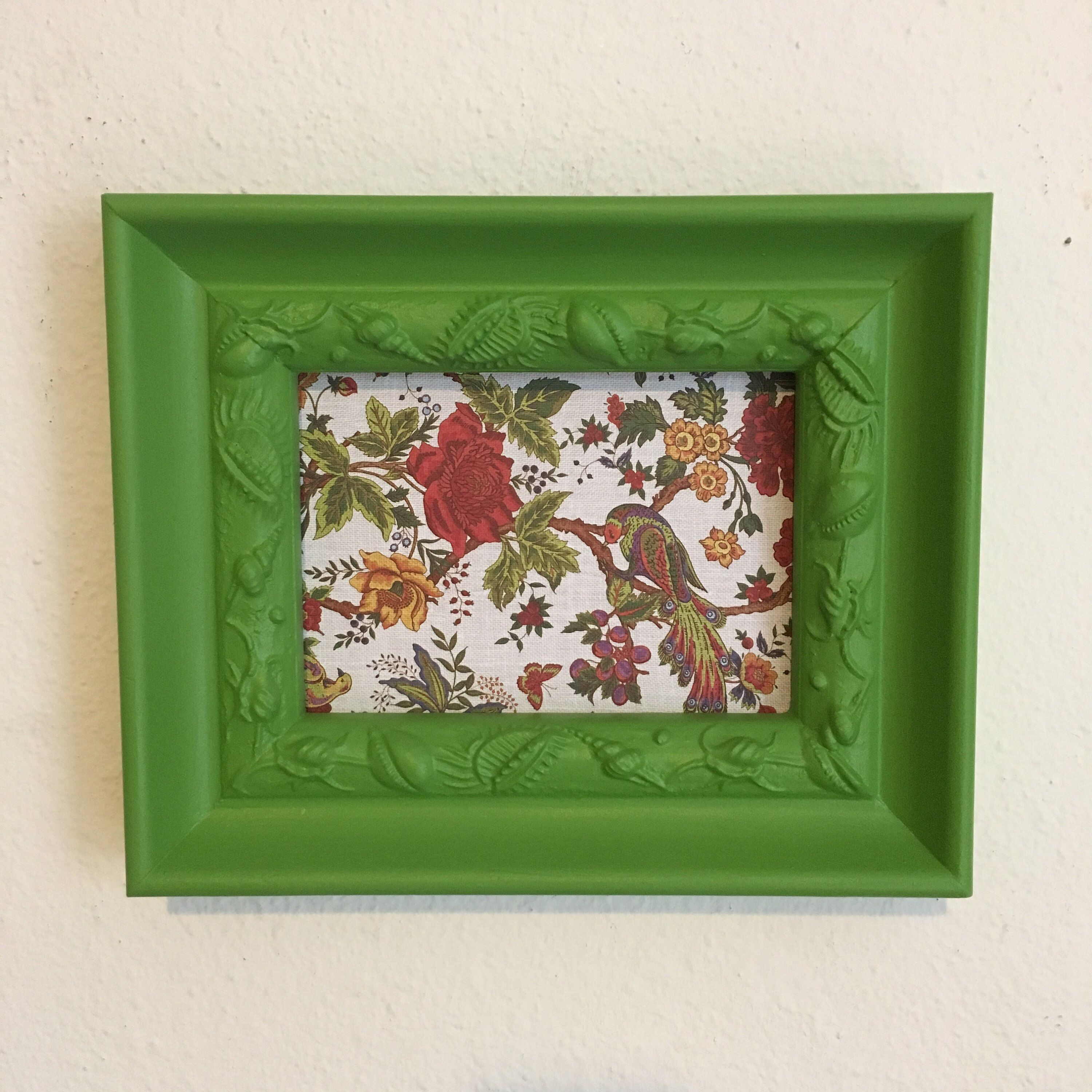Picture Frame Upcycled Handpainted Green 5x7 Photo Frame Chunky Frame One Of A Kind Kitchen Decor By Trexframes On Et Frames On Wall Frame Picture Frames