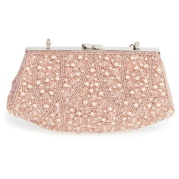 Glint 'Rivoli' Beaded Clutch ($98) ❤ liked on Polyvore featuring ...
