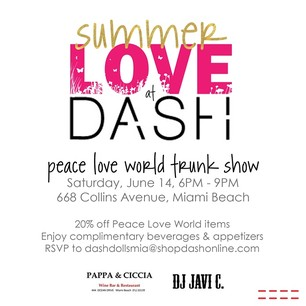 It Must Be Summer Love - This Saturday June 14th at DASH Miami. #DashBoutique #KUWTK #KimKardashian #SouthBeach #DashMiami