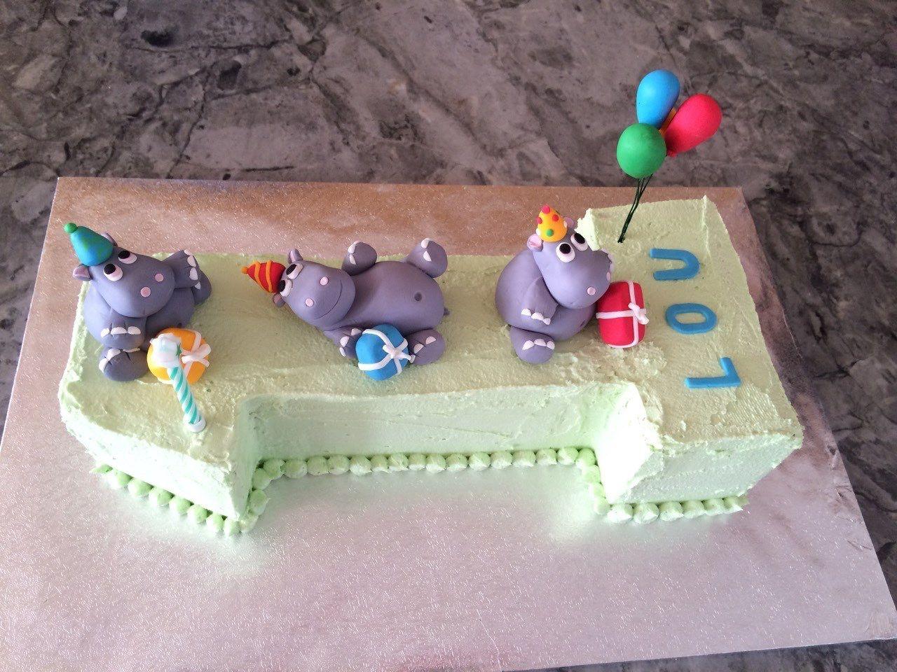 Lou's 1st Birthday Cake