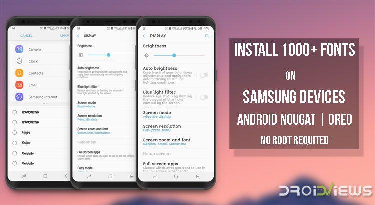 Download Samsung Fonts APK | Samsung | Samsung device