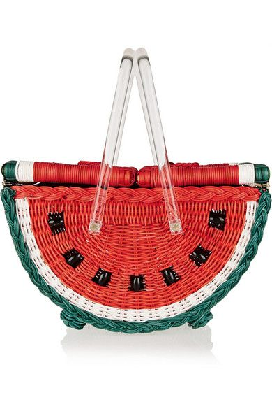 Charlotte Olympia - Watermelon Basket straw tote