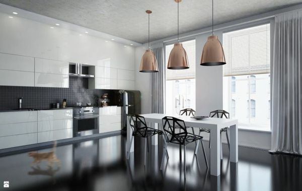 küchenlampen lampenschirme küchenbeleuchtung modern design decke ...
