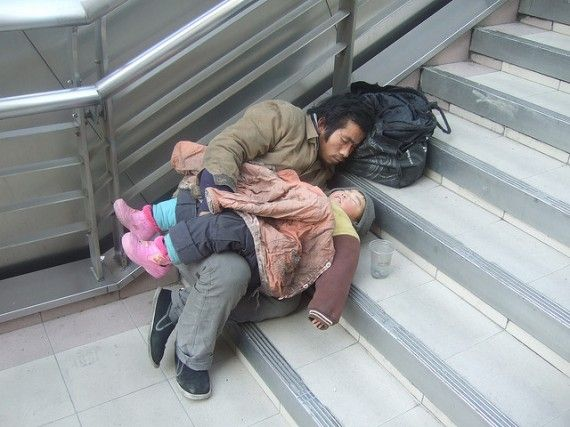 Shelter the homeless. At least, never look down on these folk, most are homeless through no fault of their own....