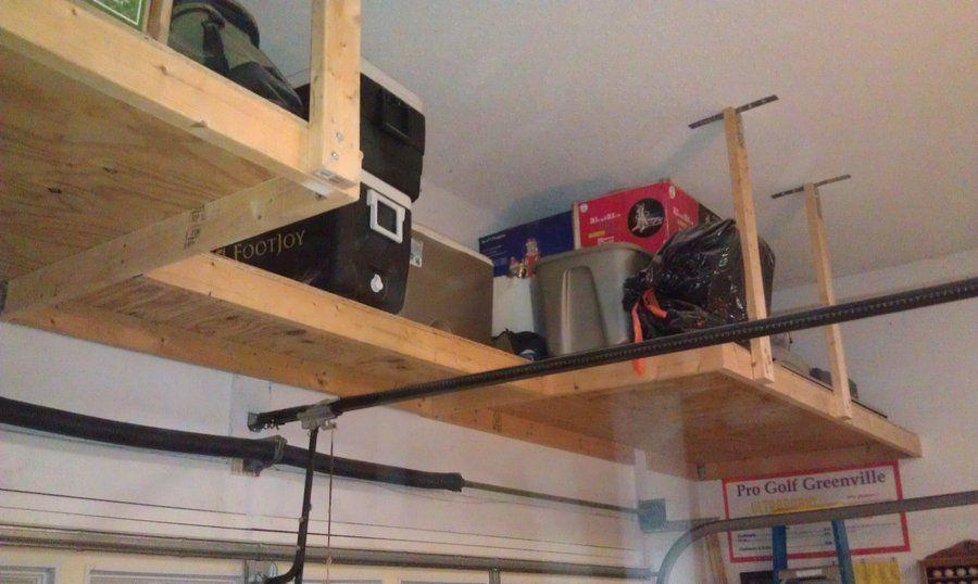 Over Garage Door Shelf Above Garage Door Storage Garage