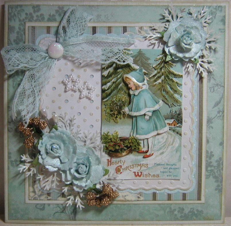Винтажные открытки на рождество своими руками, день святой ольги