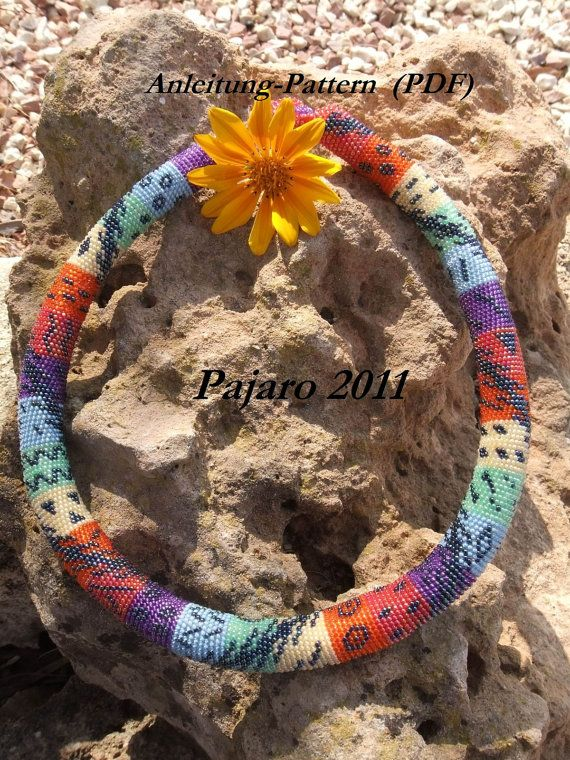 Pattern For Bead Crochet Necklace Rainbowtendril By Pajaroandson