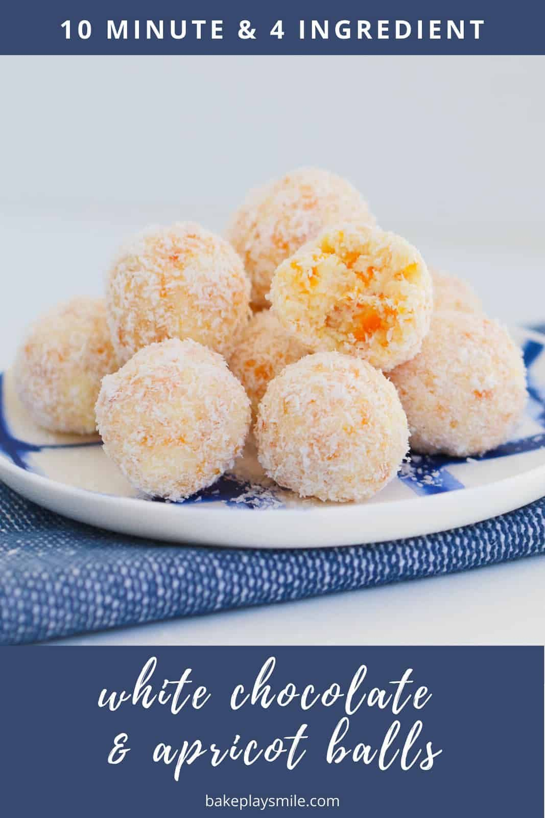 Photo of White Chocolate, Coconut & Apricot Balls