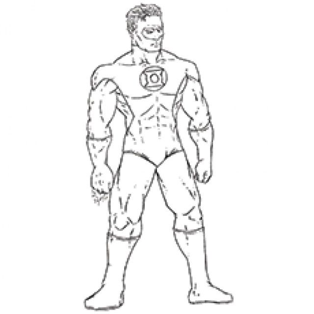 amazing picture of green lantern coloring pages