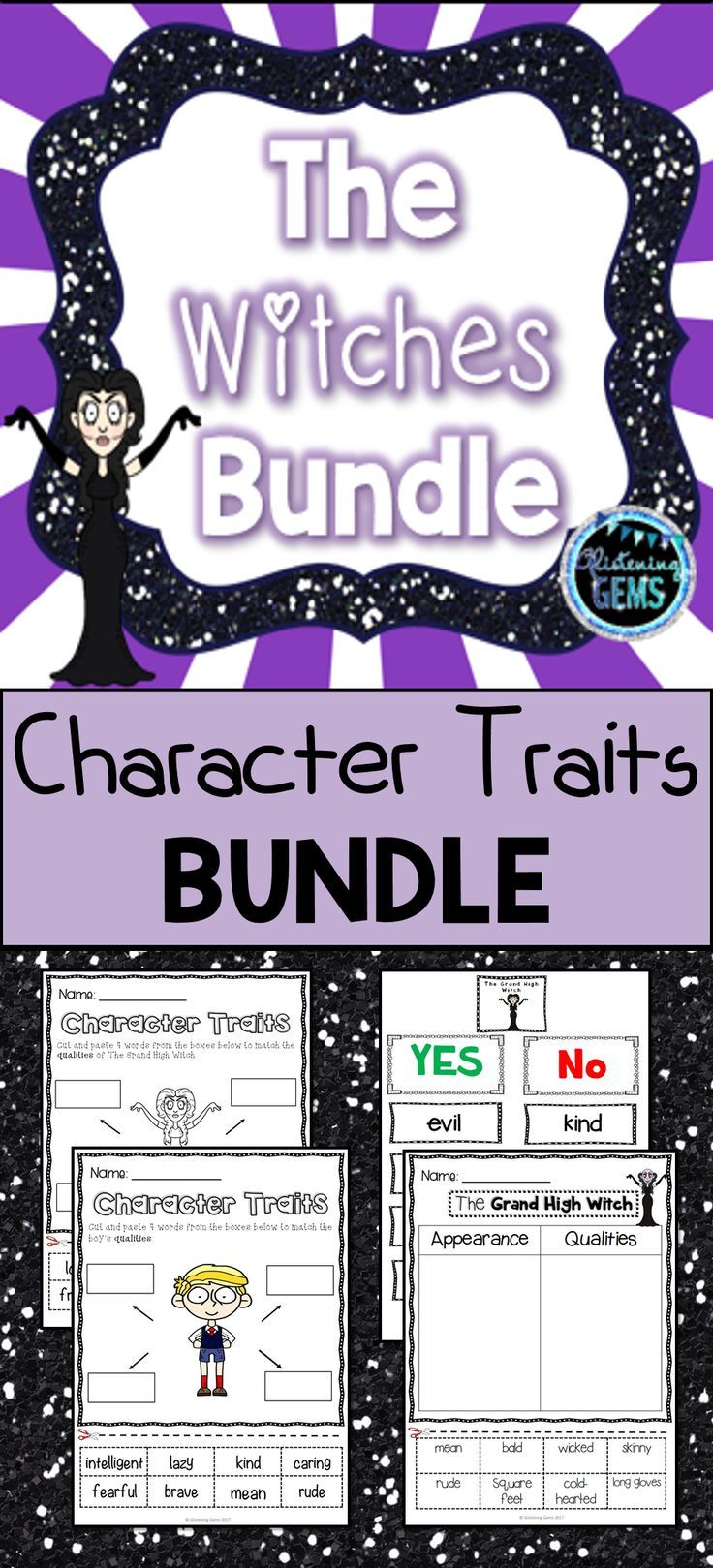 Workbooks the witches roald dahl worksheets : The Witches by Roald Dahl - Bundle | Roald dahl characters ...