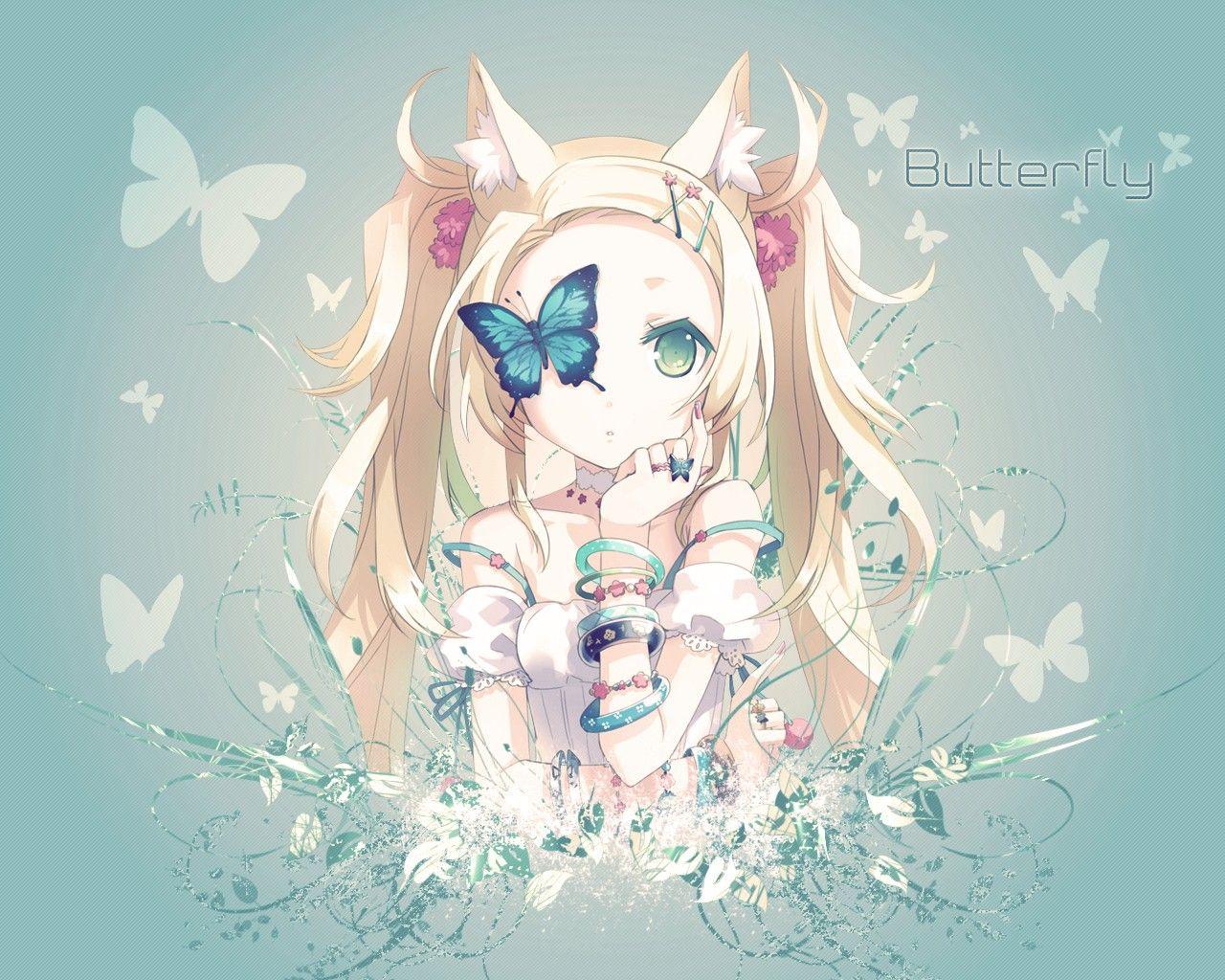 Anime game butterfly girl boys pretty wallpaper | 6060x4037 ...