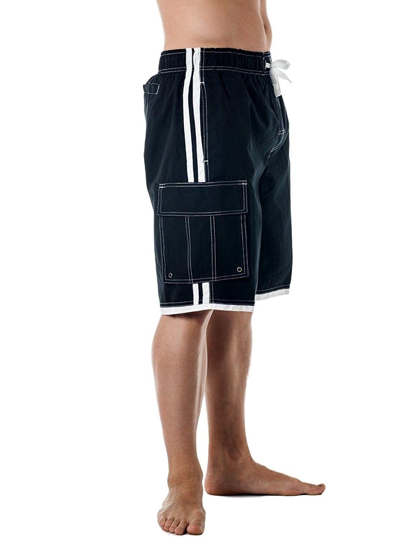 64bfafe49c Men's Cargo Pocket Mesh lining BoardShorts - Black - CC11JP3ARUR,Men's  Clothing, Swim, Board Shorts #men #clothing #fashion #style #gifts #outfits  #Board ...