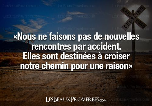 Nouvelle rencontre citation