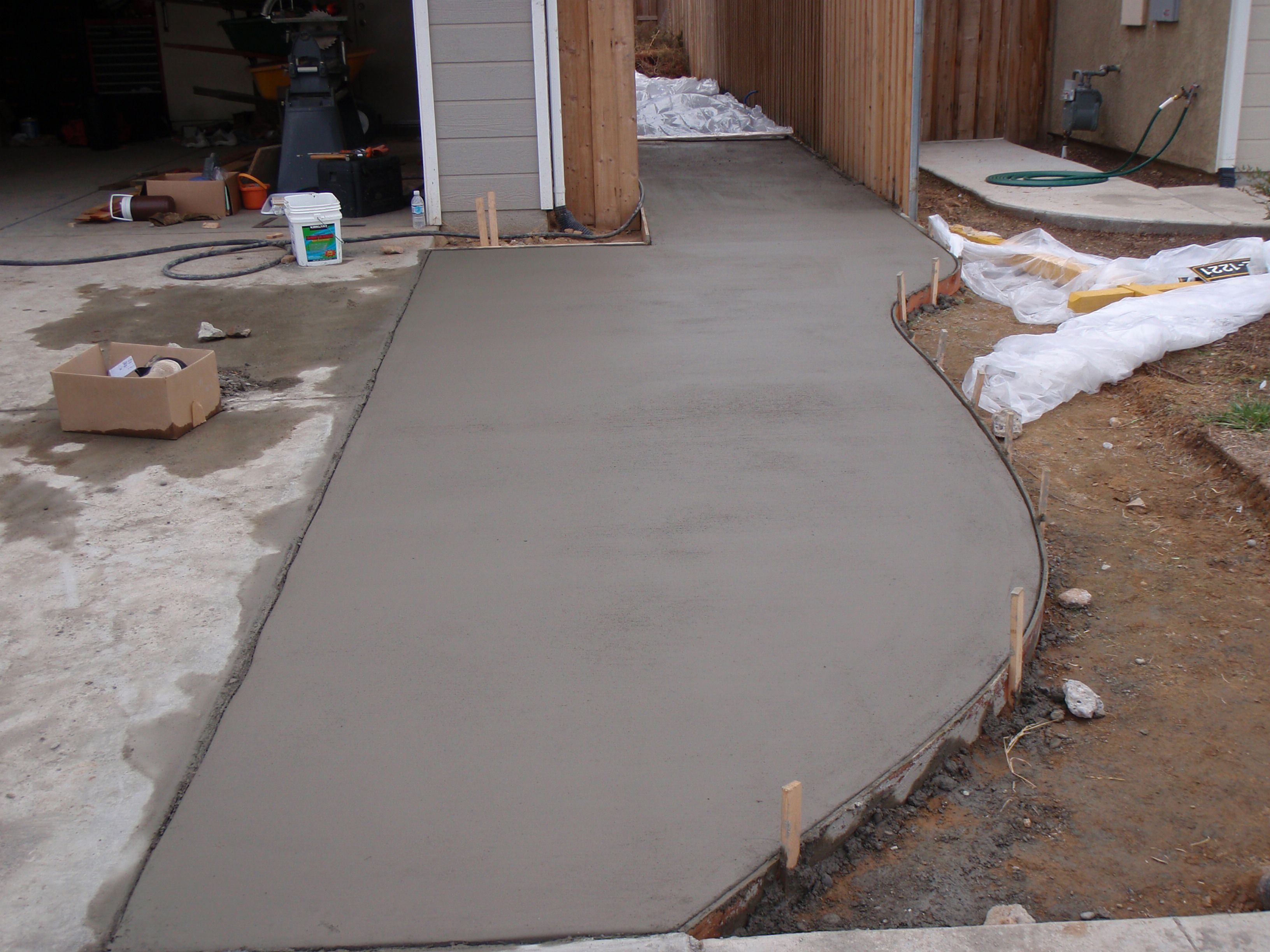 Completed driveway and side yard extension | Side yard, Diy driveway, Front  house landscaping