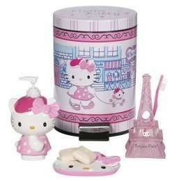 Paris Themed Bathroom Set | Hello Kitty Bonjour Bath Collection   Photo