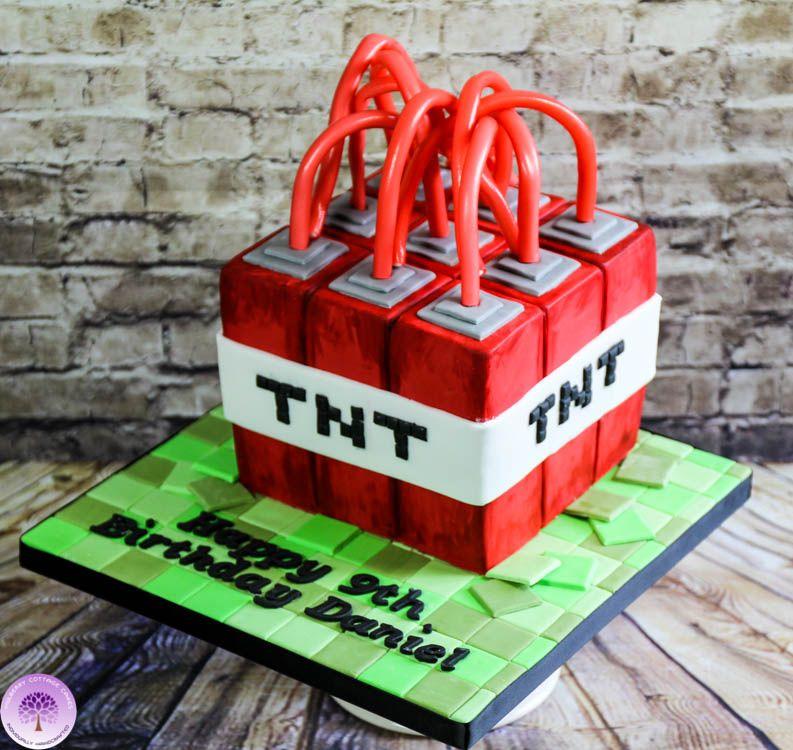 Minecraft Tnt Birthday Cake By Mulberry Cottage Cakes Minecraft