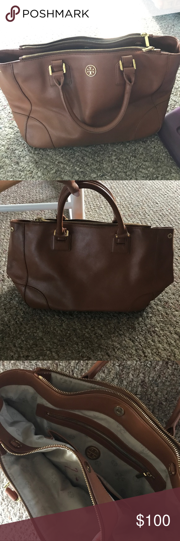 Tory Burch Handbag Camel Colored Looks New From Outside Used And