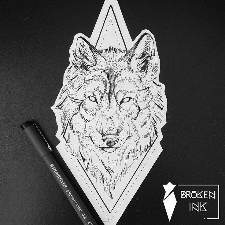 Geometric Tattoo  Wolf geometrisches Tattoo und Dotwork von Broken Ink folgen instragram  boundtattoo  awesome Geometric Tattoo  Wolf geometrisches Tattoo und Dotwork von...