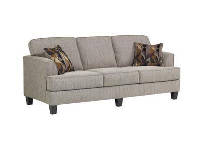 Grayish Taupe With Charcoal And Coral Pillows Furniture Sofa Home Furniture