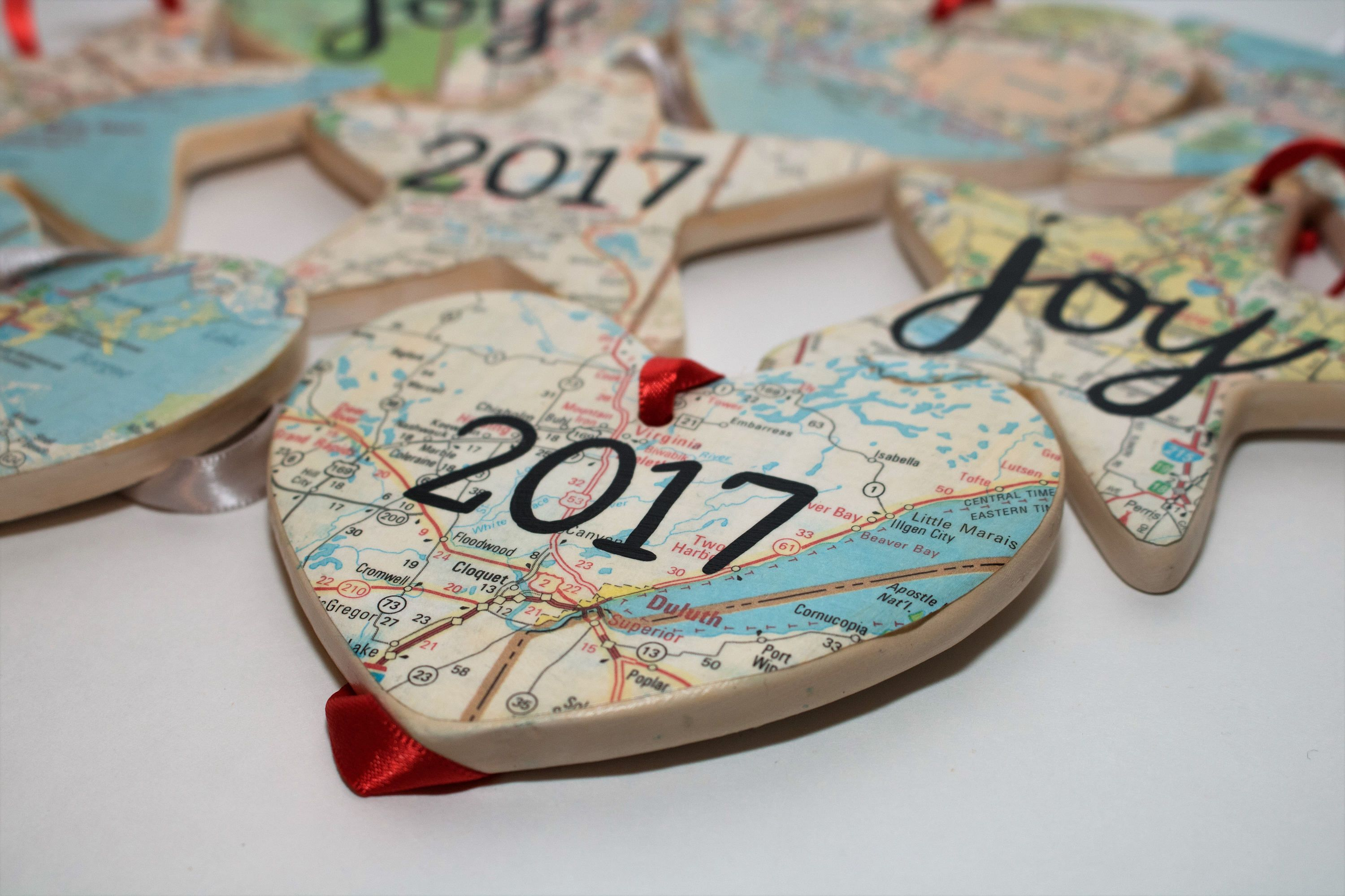 Map Christmas Ornament by ChristysCreations411 on Etsy