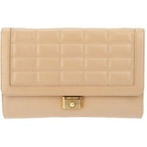 jimmy choo padded clutch from farfetch via polyvore