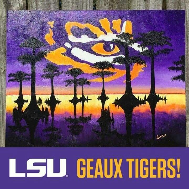 Lsusaints Lsusaints Lsu Tigers Football Lsu Tigers Louisiana New Lsu Bedroom Style Painting