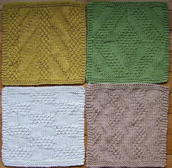 #2 Really Reversible Dishcloths Set of 4 - Knitting Patterns and Crochet Patterns from KnitPicks.com