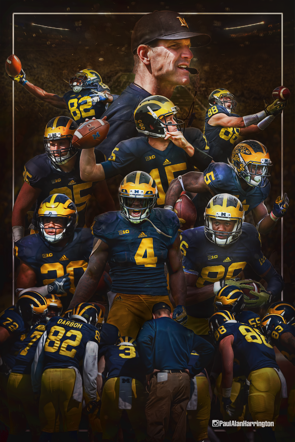 University Of Michigan Football On Behance Athletic