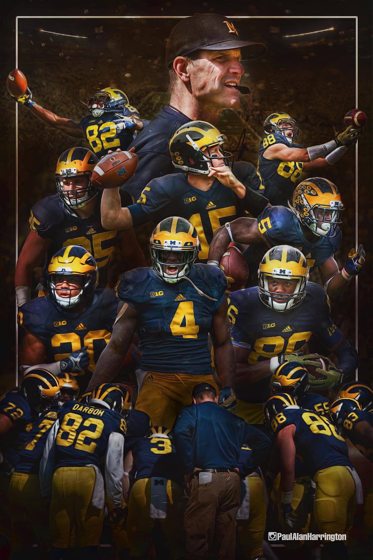 University Of Michigan Football On Behance Michigan Football Michigan Wolverines Football Wolverines Football