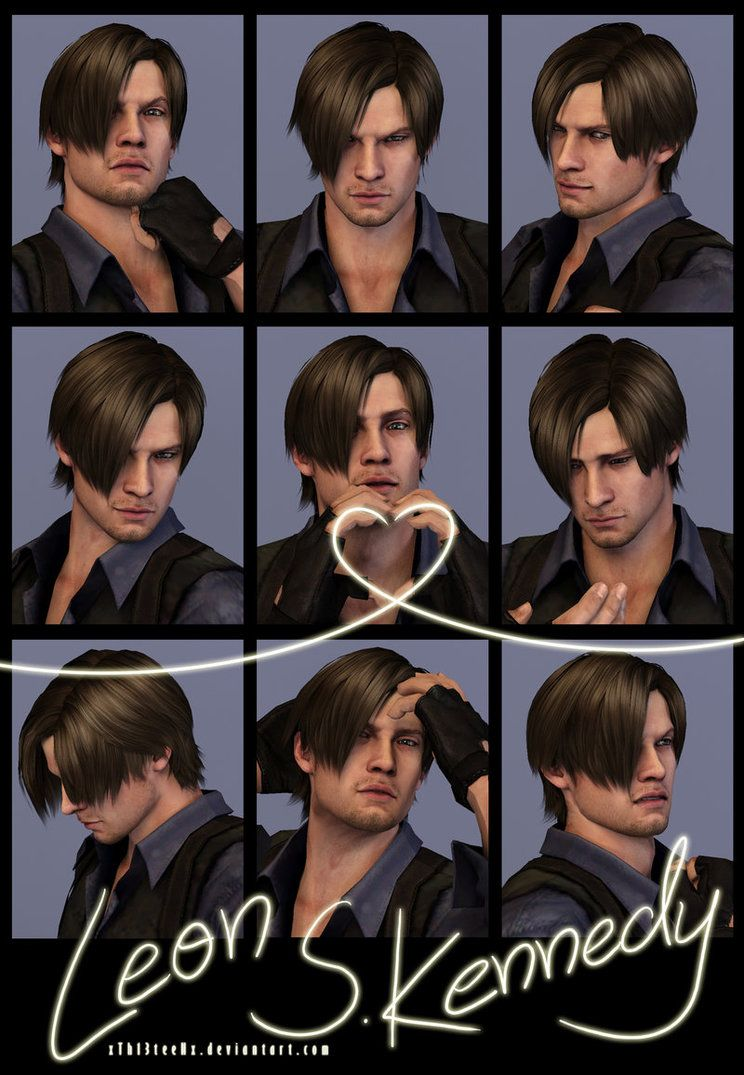 9 faces photo-shoot - leon s. kennedy by xth13teenx on