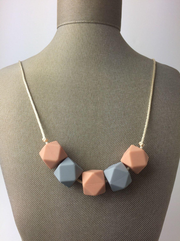 Hexagon Silicone Teething Necklace by BringingHomeBabyBee on Etsy https://www.etsy.com/listing/478204068/hexagon-silicone-teething-necklace