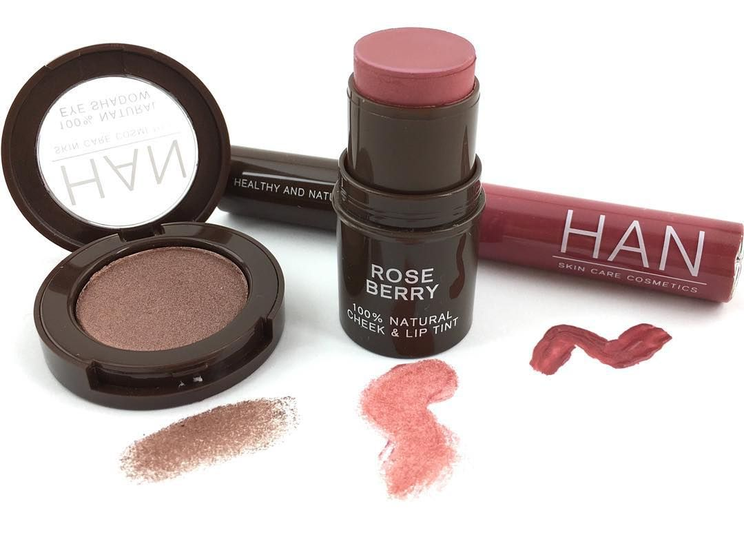 Han Skin Care Cosmetics On Instagram Falling For These Gorgeous Colors Taupey Plum Eyeshadow Rose Berry Cheek Lip Tint R Lip Tint Plum Eyeshadow Skin Care