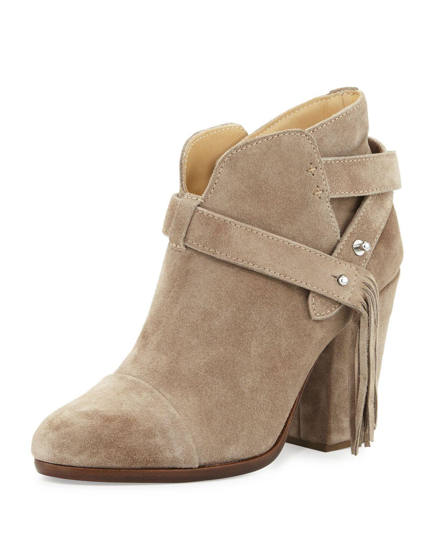 Harrow Fringe Suede Ankle Boot, Warm Gray, Warm Grey - Rag & Bone