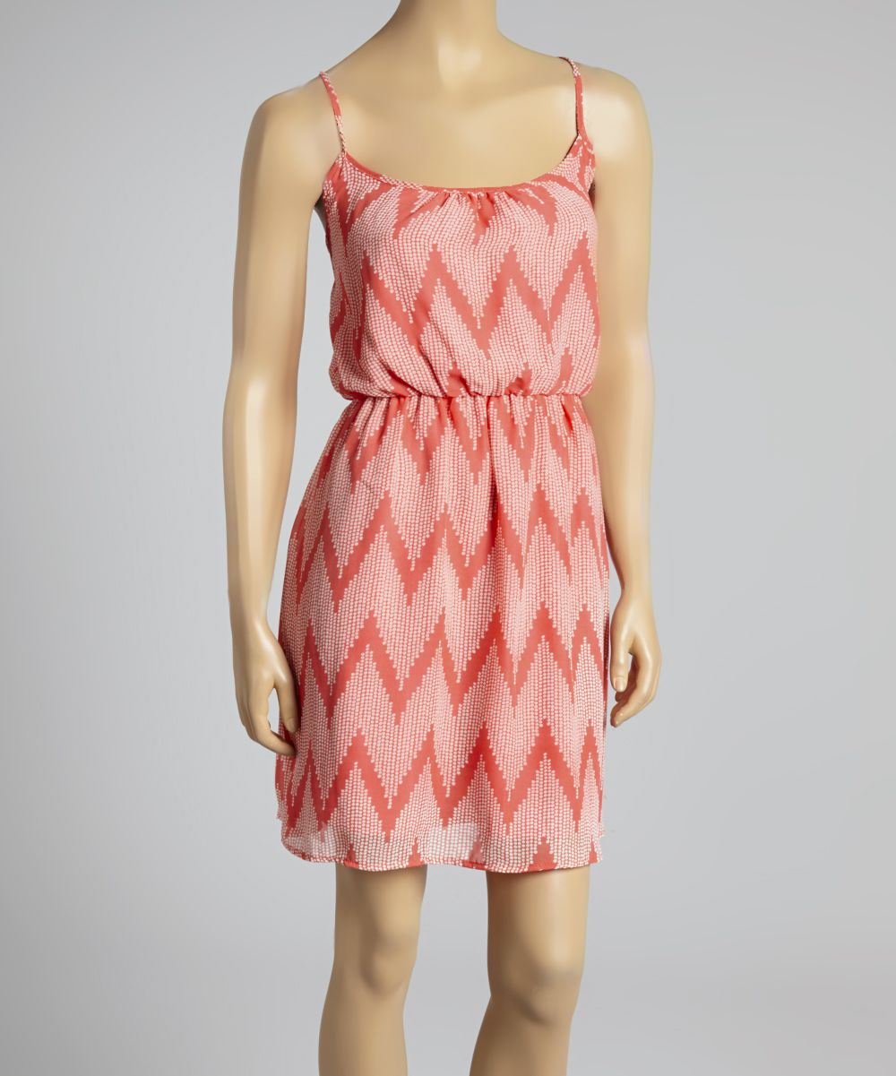 Coral chevron dress am normally pretty antipink but i like the