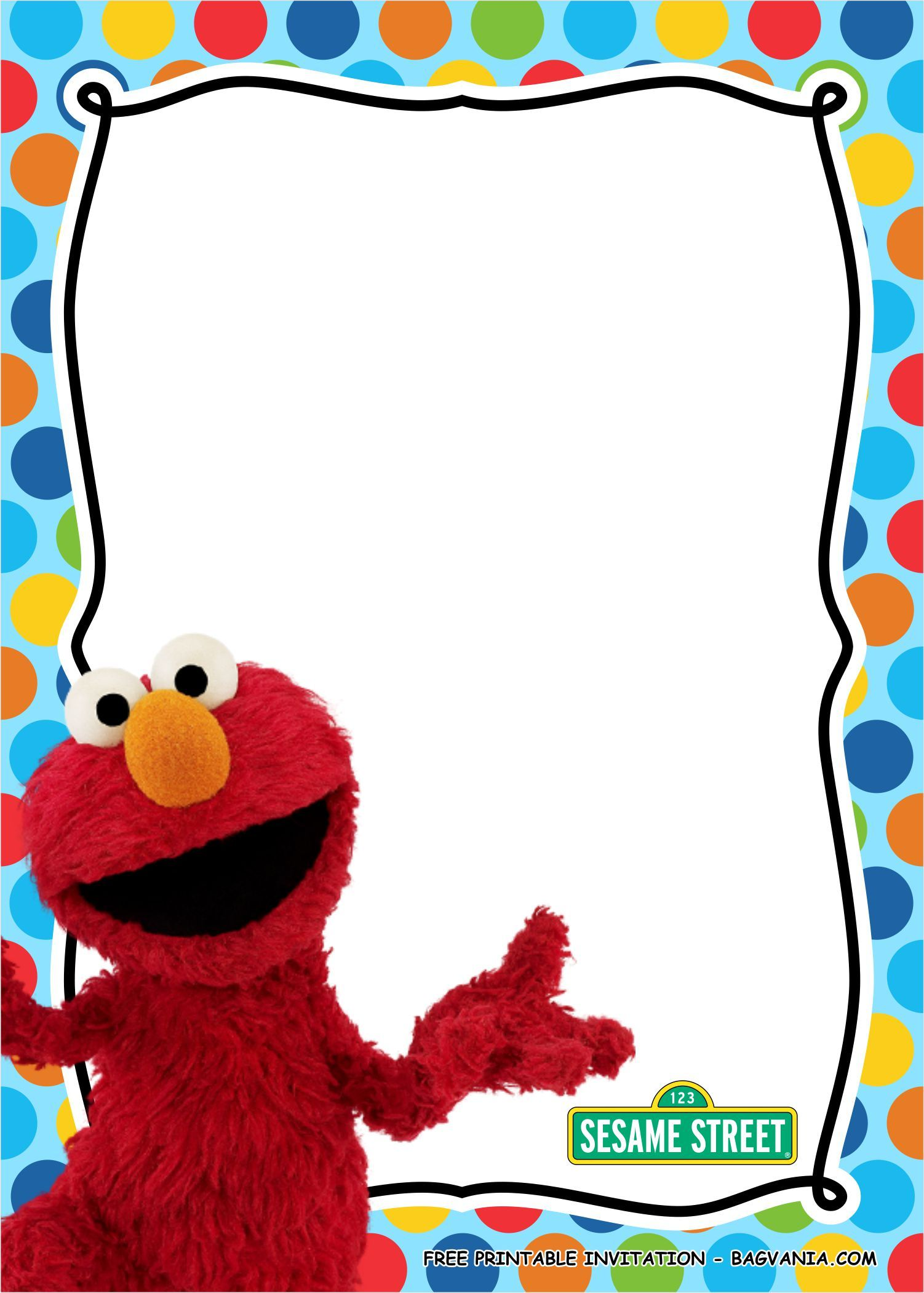Free Printable Elmo Birthday Party Kits Template Elmo Birthday Invitations Birthday Invitation Templates Elmo Birthday Party