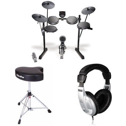Alesis Dm6 Usb Electronic Drum Set Bundle With Drum Throne And