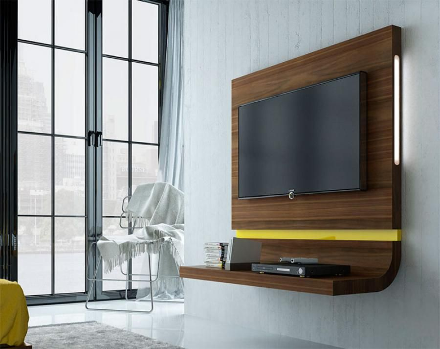 fenicia floating curved tv unit in various colours & finishes with