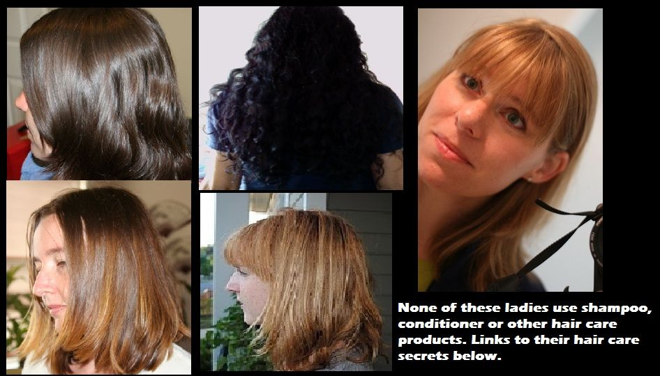 clean, healthy hair without shampoo or other chemicals!