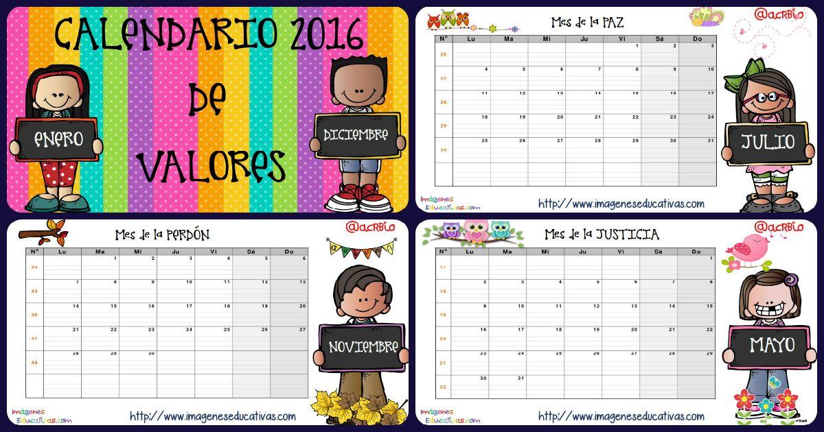 Imagenes Educativas Para Descargar: Calendario Y Planificador Semanal 2016 Imágenes