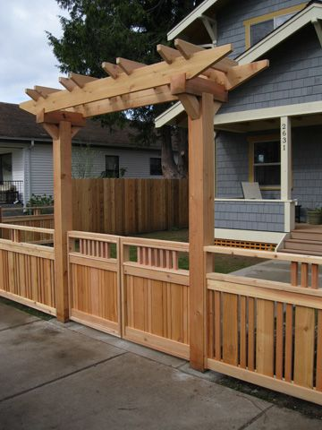 Projects Greencoast Fence Gate Design Front House Landscaping Fence Design