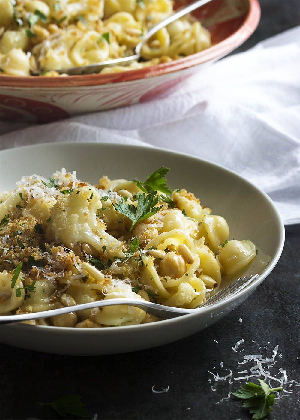 Orecchiette With Cauliflower And Pine Nuts Recipe Vegetarian