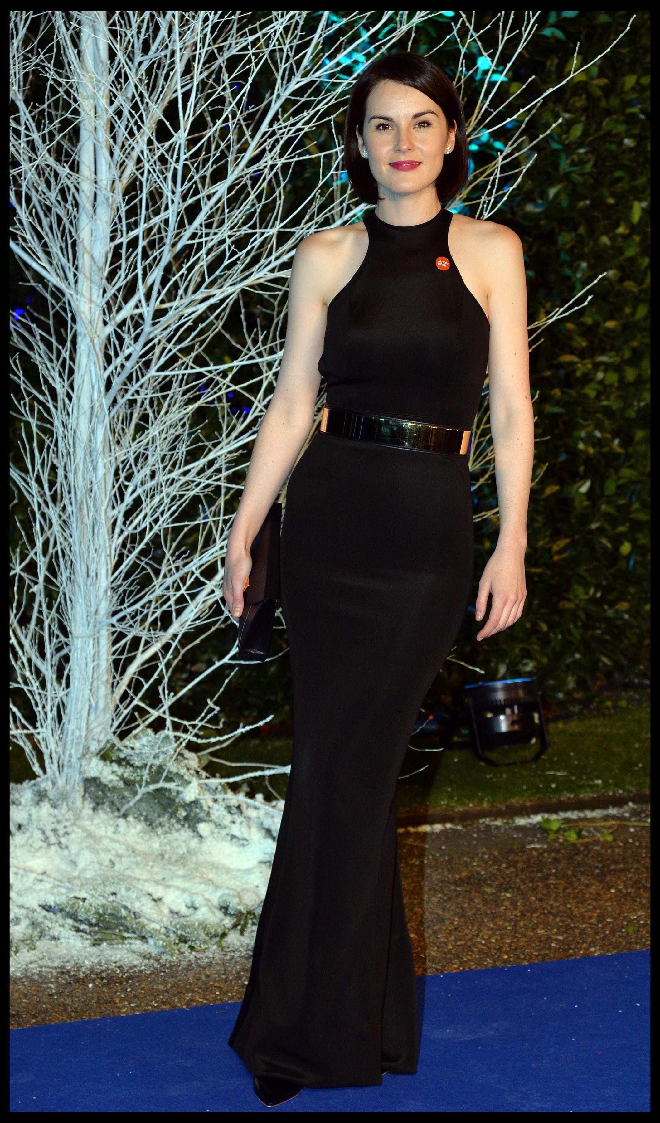 Michelle dockery centrepoint winter whites gala london