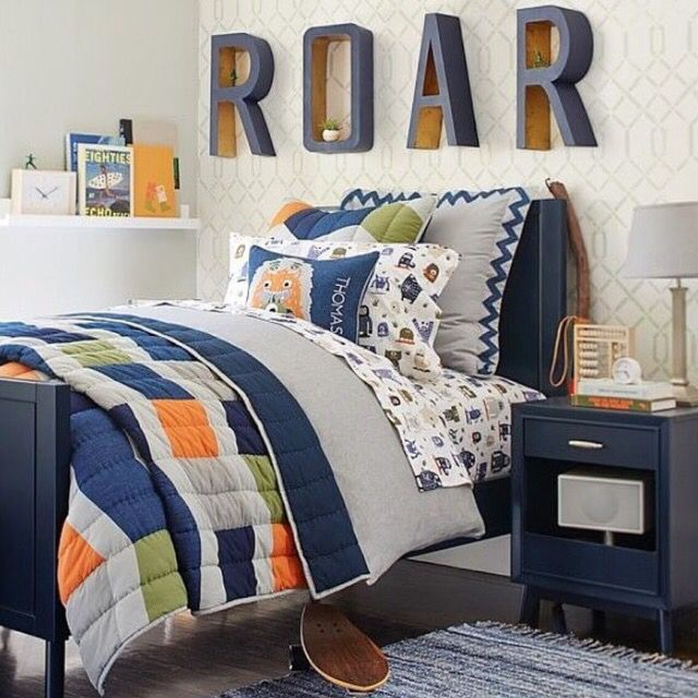 Color: Gray, Blue, Orange Style: Roar shelf Bed: Twin in ...